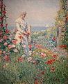 Celia Thaxter in Her Garden by Childe Hassam.JPG