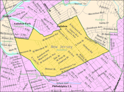 Census Bureau map of Audubon, New Jersey