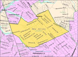 Audubon, New Jersey - Image: Census Bureau map of Audubon, New Jersey