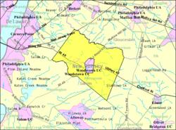 Census Bureau map of Pilesgrove Township, New Jersey