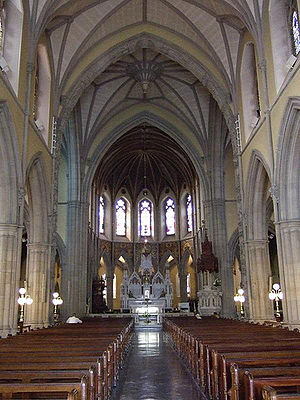 Cathedral of St. Eunan and St. Columba - Image: Central aisle lk