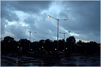 Monsoon trough - View of central Kolkata after a monsoon rain.