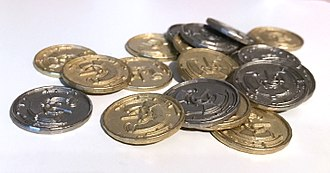 Play money - Coins from the game Century: Spice Road