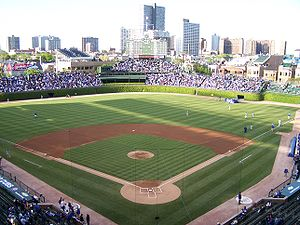 The center field of Wrigley Field in May 2008 ...