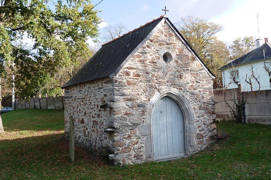English:  Santiago de Compostela chapel in the hamlet of Le Bellion, Fégréac, Loire-Atlantique, Pays de la Loire, France.