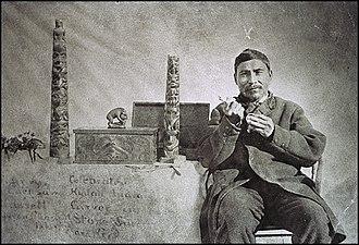 Haida argillite carvings - Charles Edenshaw (ca. 1839-1920) and carvings