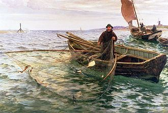 Fishing techniques - Image: Charles Napier Hemy The Fisherman 1888