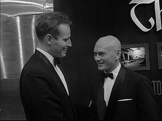 The Ten Commandments (1956 film) - Charlton Heston and Yul Brynner at the New York premiere