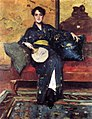大通威廉·梅里特的蓝色和服1888.jpg