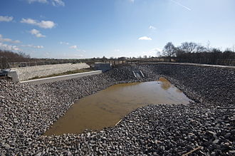 Chasewater - The new overflow arrangement built as part of repair works in 2012