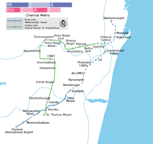 Chennai Metro - Schematic diagram of Chennai Metro