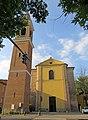 Chiesa di San Prospero (San Prospero Parmense, Parma) - facciata e campanile 2019-06-17.jpg