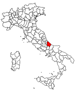 Location of Province of Chieti