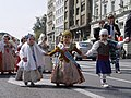 Children parading in historical Valencian costumes.jpg