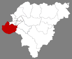 Location of Shuangcheng in Harbin