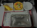 China Airlines 中華航空 meal food tray n food box n white drinking cup Feb-2013.JPG