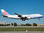 China Airlines Boeing 747-409F (B-18717) at Miami International Airport.jpg