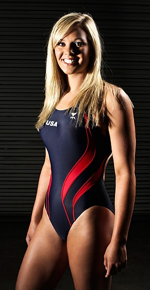 One-piece swimsuit - U.S. swimmer Chloe Sutton in a one-piece swimsuit commonly worn in swimming competitions