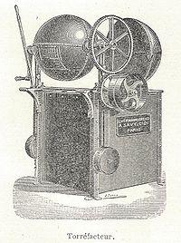 Machine de torréfaction (gravure de 1904 )