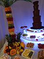 Chocolate Fountain for Hire with Palm Fruit Tree.JPG