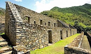 Choquequirao - Choquequirao main structures