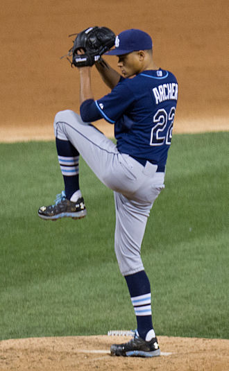 Chris Archer - Archer pitching for the Tampa Bay Rays in 2014