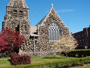 Christ Episcopal Church (Waltham, Massachusetts) - Image: Christ Church Waltham Mass Western Facade