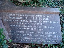 Christopher Newman Hall memorial at Abney Park.jpg