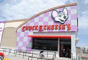 Radio Bart - Wall E. Weasel is a parody of Chuck E. Cheese's.