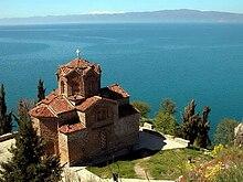 Photographie de l'église de Kaneo à Ohrid