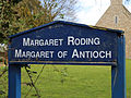 Church of St Margaret, Margaret Roding Essex England - church sign.jpg