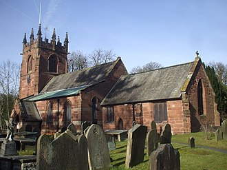 Backford - Image: Church of St Oswald, Backford geograph.org.uk 2262903