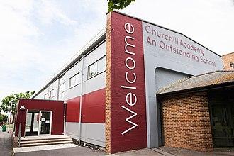 Churchill Academy and Sixth Form - Image: Churchill Academy & Sixth Form exterior