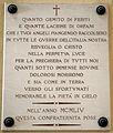 Cimitero dall'antella, cappella di santa maria assunta, lapidi vittime delle guerre, 1954, 01.JPG