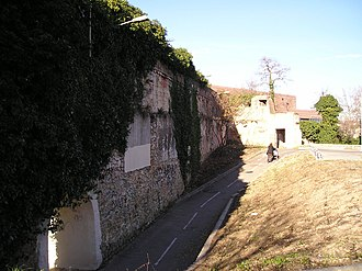 Citadel of Montpellier - Remains of the Bastion du Roi, as seen from within the citadel