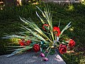 City of London Cemetery grave red rose floral arrangement 1.jpg