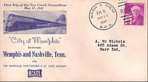 City of Memphis (train) - First trip of the streamlined City of Memphis, May 17, 1947