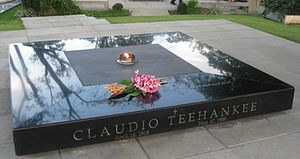 Claudio Teehankee - Teehankee's grave at the Libingan ng mga Bayani.