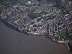 View of Clevedon from the air, showing the pier