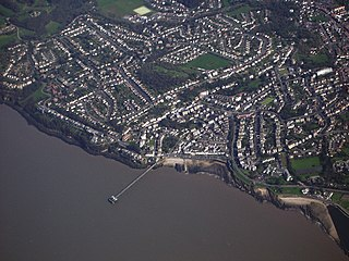 Clevedon town and civil parish in North Somerset, England