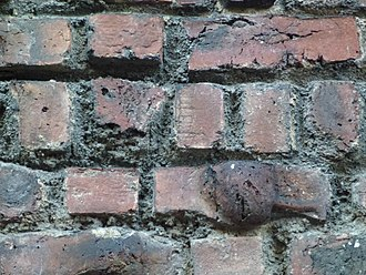 Clinker brick - Clinker brick closeup of bricks in the so-called Clinker building on Barrow street in Greenwich Village, New York City.
