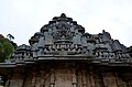 Close up of sikhara (tower) over shrine at Akkana Basadi.jpg
