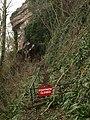 Closed footpath, Babbacombe - geograph.org.uk - 1174818.jpg