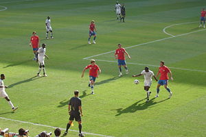 Czech Republic national football team - Czech Republic (red) v Ghana (white) at the 2006 World Cup.