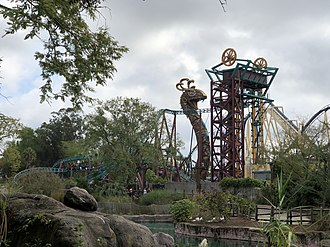 Cobra's Curse - Cobra's Curse as seen from the Edge of Africa portion of the park