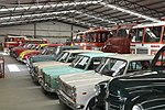 Collection of classic British and European cars and fire trucks at Wanaka Transport and Toy Museum.jpg