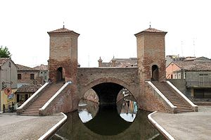 Comacchio - Trepponti (1638), built by Giovanni Pietro da Lugano to a design by Luca Danese of Ravenna