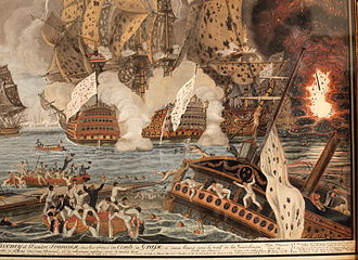 Guadeloupe - The Battle of the Saintes fought near Guadeloupe between France and Britain, 1782.