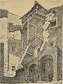 Combes F. - Ink - Sospel, rue Saussieras, vient de Murier (en fait rue Saussier) - 31.5x23.2cm.jpg