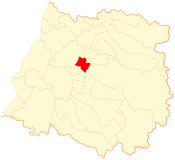 Location of Talca commune in Maule Region